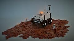 PHOENIX Rover on Mars - front view (adde51) Tags: adde51 lego moc mars mars2050 rover febrovery wheel technique exploring brickbuilt wheels scifi sciencefiction science