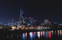 Nashville Glow (Matt Greenland) Tags: purple nashville tennessee city scape timelapse