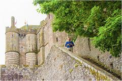 Mont-Saint-Michel ,  Il giro delle mura ... (miriam ulivi) Tags: miriamulivi nikond7200 france francia normandia montsaintmichel abbaziadimontsaintmichel dentrolemura walkingonthewalls alberi trees man uomo
