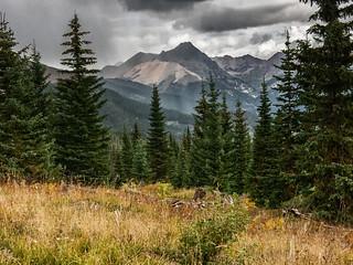 fall mountain rain storm