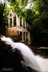 Ruins in the forest (Carbide Wilson Mill, Gatineau Park) (corineouellet) Tags: cascades forest ruins landscape nature lens shutter longexposure longueexposition longexpo québec gatineau canada canoncanada canonshot canonphoto canon waterfall waterfalls