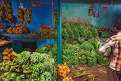 Bananas. Mysore, India (Marji Lang Photography) Tags: devarajamarket india indiansubcontinent karnataka mysore mysoremarket travelphotography banana bananas blue citymarket colorful colorfulbackground colors composition cooltones dailylife daylight documentlife documentary everydaylife food fruitmarket fruitseller fruits geometry green horizontal indian indoors life localmarket man market naturallight oneman oneperson ordinarylife people pillar southindia southindian standingman streetphotography streetshot yellow