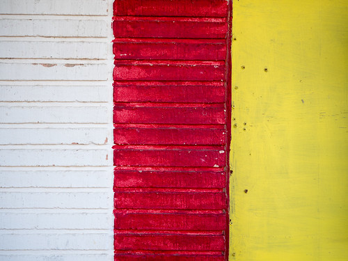 White, Red, Yellow Wall