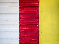 White, Red, Yellow Wall (joncutrer) Tags: vivid color colorful wall texture brick red yellow white