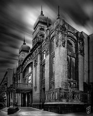 Old Theater (kamal_aljahed) Tags: oldcity longexposure building baku old monochrome light clouds dramatic blackwhite