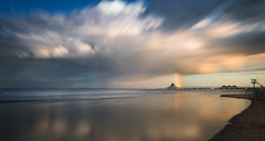 Rainbow at pier of Heringsdorf (mad_airbrush) Tags: 5d 5dmarkiii ostsee balticsea germany deutschland heringsdorf pier seebrücke rainbow regenbogen clouds wolken longexposure landscape landschaft langzeitbelichtung nd ndfilter filter