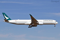 F-WZNI Airbus A350 Cathay Pacific (@Eurospot) Tags: blxd fwzni airbus a350 a3501000 toulouse blagnac cathaypacific