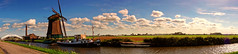 The Pano Dutch Landscape (Alfred Grupstra) Tags: sky nature famousplace landscape cultures architecture windmill river blue ruralscene outdoors water cloudsky summer tower history travel sunset nauticalvessel netherlands panorama
