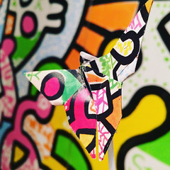 Keith Haring origami buttefly in front of Keith Haring mural (spudart) Tags: 2018 60602 78eastwashingtonstreet art artworkinchicagoculturalcenter chicago chicagoculturalcenter chicagopubliclibrary illinois keithharing keithharingmural origami origamibutterfly shepleyrutanandcoolidge usa abandonedart abandonedorigami artbrut artwork blacklines blackstrokes building built1897 butterfly cartoons downtown drawing drawings foldedphoto foldedphotos graffiti graffitimural heavylines leftart leftorigami loop mural origamiphotos painting placedart placedorigami popart popartmural publicart publicorigami sidewalkart sidewalkorigami streetart streetculture streetorigami thoughtful