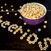 Cereal forming the word CHEERIOS