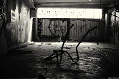 Brouette (Dotzap) Tags: exploration urban urbex sombre dark seul alone brouette wallis casino valais sion suisse switzerland swiss blanc noir white black