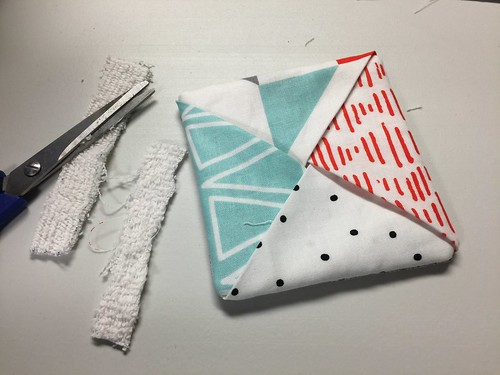 terrycloth - fabric coasters