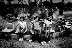 memories 705 (soyokazeojisan) Tags: japan osaka bw city park blackandwhite monochrome analog olympus m1 om1 28mm film trix kodak memories 1970s 1975