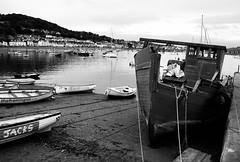 Teignmouth harbour (Hammerhead27) Tags: hill beach ship house olympus mono monochrome bw blackandwhite grey sea water hull boat harbour england devon teignmouth