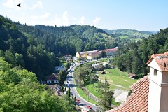 Vista desde el Castillo de Bran (Transilvania, Rumanía, 18-8-2018) (Juanje Orío) Tags: 2018 bran transilvania rumanía românia paisaje landscape europeanunion europe europa drácula