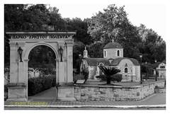 "Park ""Christos Polentas"" (Dr_Babis) Tags: nikon d610 fx nikkor50mm greece bw blackwhite monochrome crete vukolies chania orthodox church"