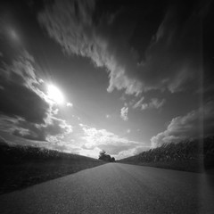 Endless road (Rosenthal Photography) Tags: ff120 20180903 landschaft lochkamera 6x6 realitysosubtle6x6 schwarzweiss anderlingen ilfordlc2912922°c55min epsonv800 pinhole mittelformat städte strase ilfordpanfplus analog asa50 dörfer siedlungen sunnyroad summer landscape sun road path pathway trees fields realitysosubtle rss ilford panf panfplus lc29 129 epson v800
