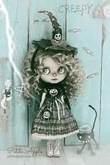 boooo (Petite Apple) Tags: blythe blythecustom blythewitch blytheoutfit halloweencostume doll soak oneofakind petiteapple