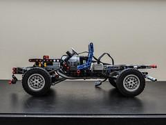 Lego Technic Toyota Land Cruiser FJ70 (Maciek L) Tags: lego technic 4x4 toyota land cruiser fj70 pick up white winch buwizz body chassis remote controll 42000 42030 42042 42043 car