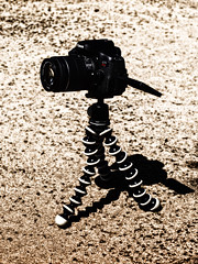 Quite the Rebel -[ HSS ]- (Carbon Arc) Tags: sliderssunday camera dslr canon rebel t6i tripod joby gorillapod video photoshop nikcollection colorefexpro bleachbypass gradient eos