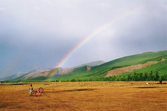 . (Careless Edition) Tags: mongolia photography film nature landscape rainbow