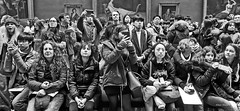looking at art (albyn.davis) Tags: museum blackandwhite louvre paris people crowd faces