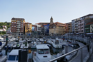 Le vieux port, Bermeo, comarque de Busturialdea, Biscaye, Pays basque, Espagne.