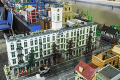 MLTC Brick Bank (narrow_gauge) Tags: 2018 melbournelegotrainclub caulfieldmodeltrainshow lego train mltc railway brickbank trains
