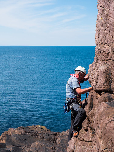 Dave W climbing at Reiff 1