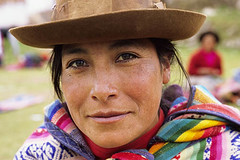 DFM9EG (terraexperiences) Tags: quechua woman chinchero peru aborigine adult chincheros closeup color image contemporary country day ethnic ethnicity face facial expression female hat headgear headshot human indigenous looking camera mood native one person outdoor peasant people rural shouldersup smile south america traditional clothing world terra chez lhabitant
