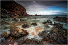 Watery Trap (Augmented Reality Images (Getty Contributor)) Tags: nisifilters benro bluesky canon cliffs clouds coastline horizon landscape longexposure morayshire portknockie rocks scotland seascape summer water waves