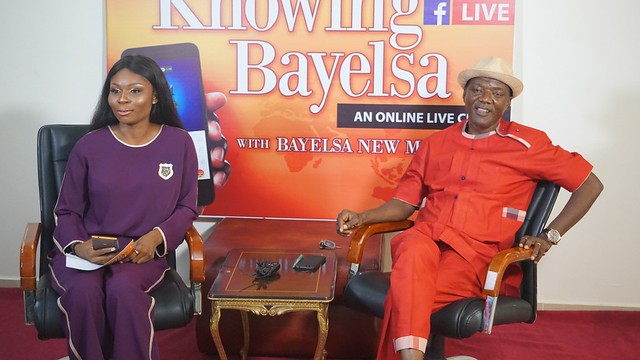 HSDickson - Commissioner for Works & Infrastructure At the Ongoing Knowing Bayelsa Program. 15th August 2018