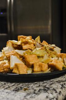 Tofu and Cabbage (Vegan)