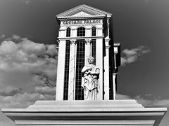 Caesar's Palace (Jan Nagalski) Tags: tower columns grecoroman statue collosal huge resort casino gambling restaurant caesaraugustus octavian caesarspalace lasvegas nevada summer blackandwhite bw jannagalski jannagal poker roulette cardgames slotmachines