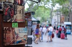 I love Barcelona (haberlea) Tags: barcelona cruise lasramblas spain street picture shop