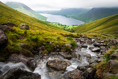 Wast Water (ed027) Tags: ifttt 500px valley mountain range waterfall scenic scenery hill idyllic stream rocky peak rock lake long exposure water vacation hike walk stones path line summer rain weather storm cloudy cloudscape beauty nature