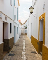 Day 880 - In the Andalusia region of Spain houses are generally whitewashed twice a year. The white color keeps the houses cool during the scorching summers and the lime in the whitewash disinfects and repels bugs. The cumulative result is streets like th