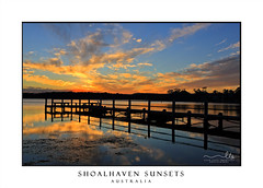 Beautiful sunset and timber jetty silhouette (sugarbellaleah) Tags: sunset jetty water reflection sky timber pier mirrored calm serenity tranquility weather afternoon relaxation leisure wooden stgeorgesbasin australia unwind travel tourism location southcoast peaceful landscape scenery shoalhaven