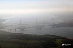 Forth Road, Forth Rail and Queensferry Crossing Bridges, Scotland (Kev Slade Too) Tags: forthrailbridge forthroadbridge queensferrycrossing scotland riverforth airtoground