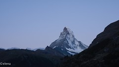Matterhorn Magic (elenaleong) Tags: swissalps thematterhorn sunriseonmatterhorn zermatt iconicpyramidshapedmatterhornpeak cantonofvalais mountains 4478metersheight switzerlandmountains elenaleong travelphotography sunrisemagic snowcoveredpeak