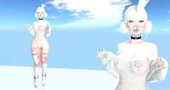 Heavenly (Nova Bean) Tags: second life secondlife catwa truth spellbound 89hz insanya dappa gosee maddict ncore empire titzuki izzies suicidal unborn cynful clouds cloud albino snow white hair blood bloody bleeding scar scars wounds ddlg bdsm kink