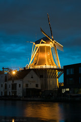 Golden Windmill (mesocyclone70) Tags: mill windmill holland netherlands bluehour illumination long exposure
