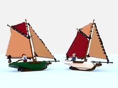 small sailboat7.lxf (Brick picker) Tags: boat captain daniel barge houseboat wood voilier bateau bois ship lego black deck ocean river dom modular moc afol ideas peniche fishing vintage figurinescale figure creator legocreation