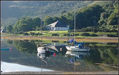 Early Morning, Lochranza. (stephen dutch BDPS) Tags: isleofarran lochranza boats yachts water sea morninglight scotland
