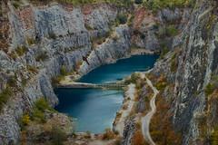 Quarry (Don César) Tags: quarry greatamerica republicacheca czechrepublic lake lago agua water wasser cantera stones rock piedras roca velkáamerika mořina beroundistrict českárepublika