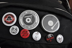 Buttons (Vinylone AFS-UTS) Tags: buttons anime animebuttons ghostintheshell asuna swordartonline starwars music vinyljunkie recordcollector