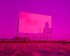 magenta matinee (xpro). parker, az. 2018. (eyetwist) Tags: eyetwistkevinballuff eyetwist drivein theater movie screen decay abandoned parker arizona closed mojavedesert mojave desert 4x5 largeformat fotoman 45ps fujinon 150mm fuji provia 100 fotoman45ps fujinonw150mmf56 fujiprovia100rdp2 film emulsion ishootfilm ishootfuji xpro cross processed crossprocessed e6c41 filmexif iconla epsonv750pro lenstagger analog analogue sheetfilm heatdamaged colorshift magenta saturated contrast expired rdp rdp2 arid highdesert america americana americantypologies landscape california usa roadtrip tumbleweeds cinema blank void theatre dusk sunset matinee broken derelict pink