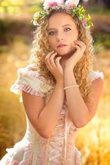 Lacy Fairytale 1383 A (jim.choate59) Tags: fairytale corset jchoate on1pics portrait woman costume dress summer maiden princess magic golden