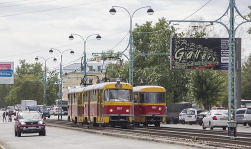 Tatra T3SU 1128, 1157 and 1109