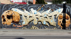 Artiste non identifié (Thethe35400) Tags: artderue arteurbano arturbain arturbà arteurbana calle grafit grafite grafiti graffiti graffitis graff mural murales muralisme plantilla pochoir stencil streetart schablone stampino tag urbanart wall crane crâne skull